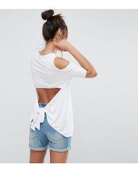 ASOS White Open Back Cold Shoulder Top