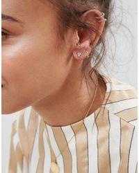 Boucles d'oreilles en strass plaqué or rose Kingsley Ryan en coloris Metallic