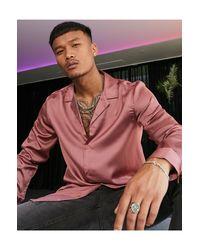 Camicia di ASOS in Pink da Uomo