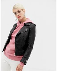 2nd Day Black 2ndday Major Classic Leather Jacket
