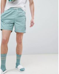 Hackett Mr. Classic Swim Shorts In Green for men