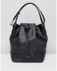 Matt & Nat Drawstring Shoulder Bag In Black