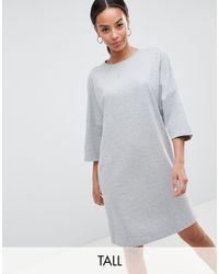 Robe longue en molleton Noisy May Tall en coloris Gray