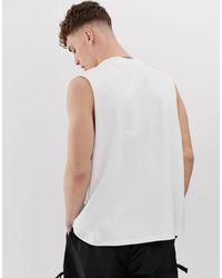 Sixth June – es Trägershirt mit tiefem Armausschnitt in White für Herren