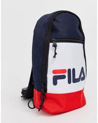 Рюкзак С Одним Ремешком (темно-синий/белый/красный) Marlin-мульти Fila, цвет: Blue