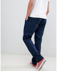 Benetton Blue Pleated Front Linen Trousers for men