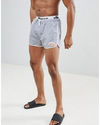 955f60ce5ca Ellesse Swim Shorts With Elastic Waistband In Gray in Gray for Men ...