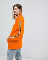 Vans Exclusive To Asos Half Zip Pullover In Orange