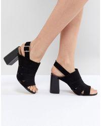 Forever New Black Stiefeletten mit Zierausschnitt und mittelhohem Absatz