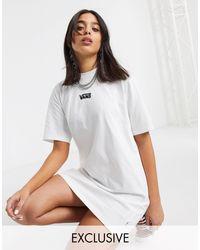Белое Повседневное Платье-футболка Эксклюзивно Для Asos-белый Vans, цвет: Multicolor