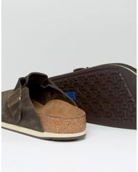 Birkenstock | Brown S Boston Suede Mules for Men | Lyst