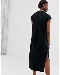 Vestito midi di Weekday in Black