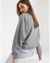 Свитшот С Логотипом -серый Love Moschino, цвет: Gray