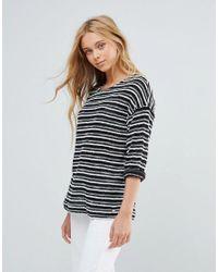 Pepe Jeans Black Knit Stripe T-shirt