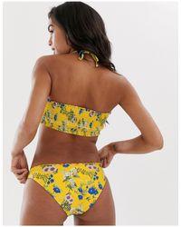 Желтые Плавки Бикини С Цветочным Принтом -желтый Pimkie, цвет: Multicolor