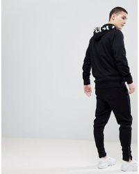 HUGO - Exploded Logo Hoodie Sweat In Black for Men - Lyst