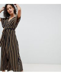 Pimkie Brown Striped V Neck Maxi Dress