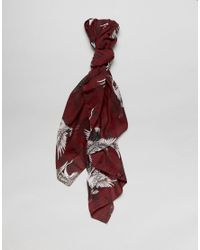 ONLY - Pink Printed Scarf - Lyst
