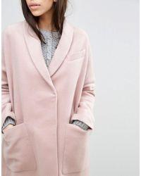 ASOS - Pink Swing Coat In Wool Mix - Lyst