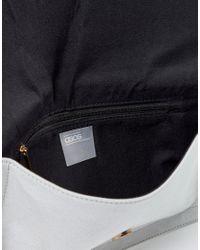 ASOS DESIGN - Gray Tassel Clutch Bag - Lyst