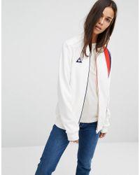 Le Coq Sportif White Premium Retro Bomber Jacket