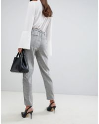 Y.A.S Gray Jekky Tailored Check Trousers