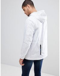 PS by Paul Smith Overhead Half Zip Anorak In White for men