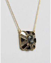 House of Harlow 1960 - Metallic Pendant Necklace - Lyst