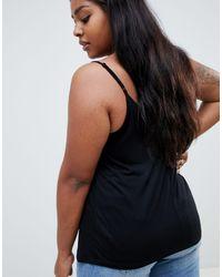 ASOS DESIGN Curve - Caraco avec détail cage ASOS en coloris Black