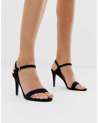 Miss Kg Black Barely There Heeled Sandals