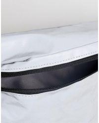 River Island Gray Reflective Cross Body Bag for men