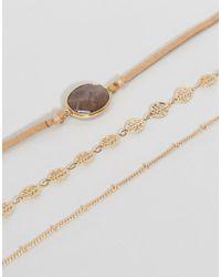 ALDO - Metallic Faycien Layered Choker Necklace - Lyst