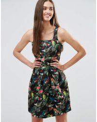 Darling   Black Floral Skater Dress   Lyst