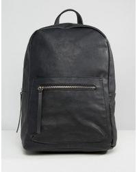 Pieces - Black Savoy Minimal Backpack - Lyst