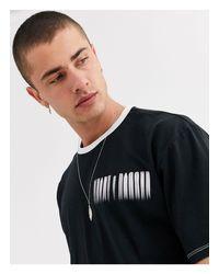 Camiseta con ribetes y logo Heart & Dagger de hombre de color Black