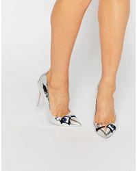ASOS - Metallic Posey Pointed Heels - Lyst