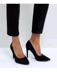 New Look - Black Pointed Court - Lyst
