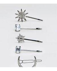 ALDO Metallic Nianiel Star & Moon Hair Pins