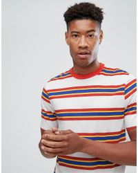 ASOS Multicolor Tall Relaxed T-shirt With Retro Stripe & Ringer for men