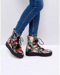 ASOS Multicolor Asos Alarna Lace Up Snow Boots