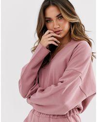 Missguided Pink – Lässiger Jumpsuit mit V-Ausschnitt