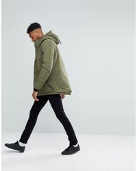 D-Struct Green Tall Borg Lined Parka Jacket for men