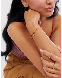 Bracelets stretch en perles colorées avec breloque étoile ASOS en coloris Multicolor