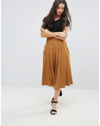 Y.A.S Brown Cama Pleated Culottes