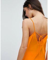 Mango - Orange V Front Cami Top - Lyst