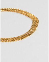 Mister - Metallic Esquire Bracelet In Gold for Men - Lyst