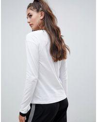 Noisy May Tall White – Sweatshirt mit abgesetztem Saum