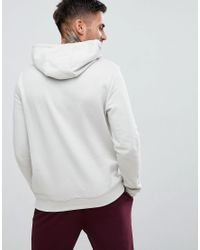 New Look Gray Pale Grey Pocket Front Hoodie for men