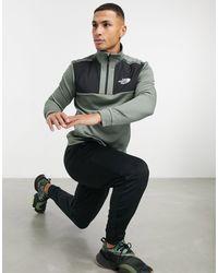 Зеленый Флисовый Топ С Молнией 1/4 Mountain Athletic-серый The North Face для него, цвет: Gray