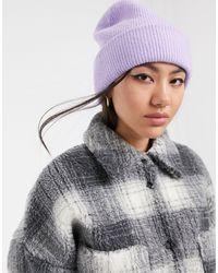 Bonnet côtelé - Lilas Monki en coloris Purple